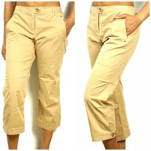 Theory Michaela Stretch Cotton Cropped Cargo Pant